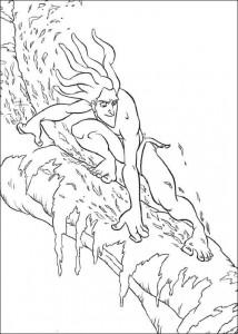 kleurplaat Tarzan (62)