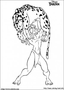 kleurplaat Tarzan (7)