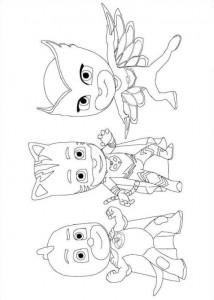 coloring team pjmasks