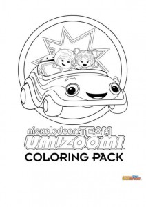 målarbok Team Umizoomi