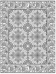 kleurplaat Tegels (13)