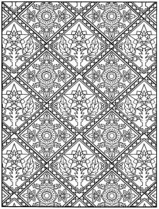 kleurplaat Tegels (15)