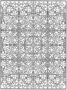 kleurplaat Tegels (18)
