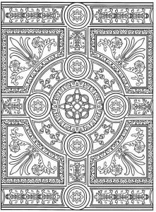kleurplaat Tegels (3)