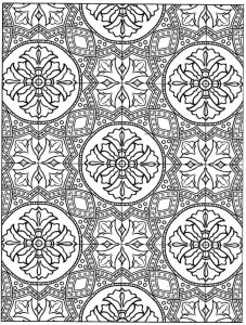 kleurplaat Tegels (4)