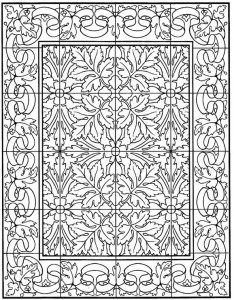 kleurplaat Tegels (5)