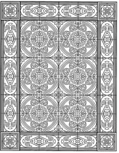 coloring page Tiles (6)