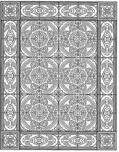 kleurplaat Tegels (6)