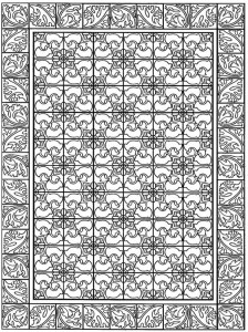 coloring page Tiles (7)