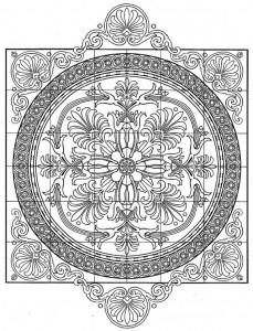 kleurplaat Tegels (9)