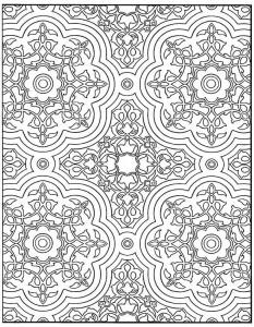 kleurplaat Tegels