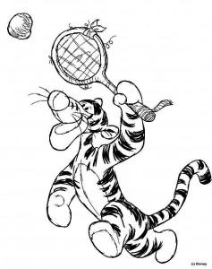 målarbok Tigger tennis