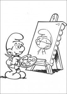 coloring page Smurf (1)