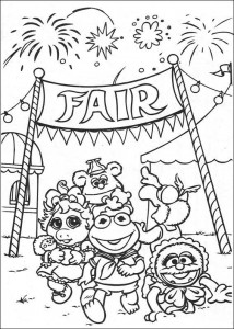 coloring page Back of the fair