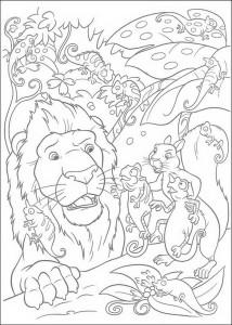 kleurplaat The Wild (16)