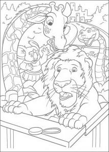 kleurplaat The Wild (6)