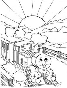 kleurplaat Thomas de trein (1)