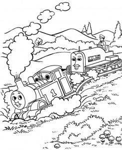 Thomas the train coloring page (10)
