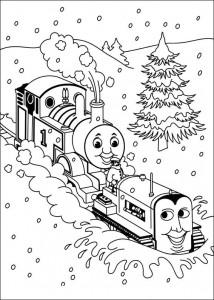 kleurplaat Thomas de trein (11)