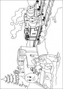Thomas the train coloring page (12)