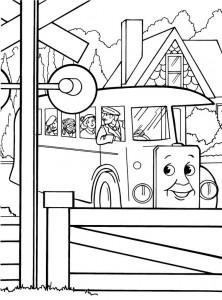 kleurplaat Thomas de trein (13)