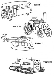 Thomas the train coloring page (14)