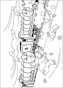 kleurplaat Thomas de trein (15)