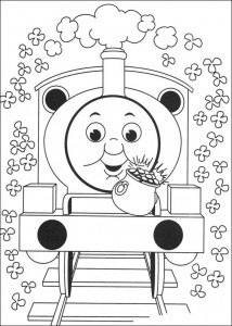 Thomas the train coloring page (16)