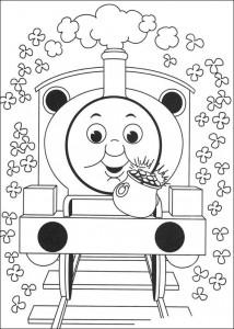 kleurplaat Thomas de trein (16)