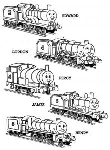 kleurplaat Thomas de trein (17)