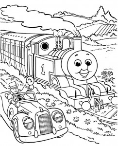 Thomas the train coloring page (18)