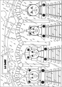 kleurplaat Thomas de trein (19)