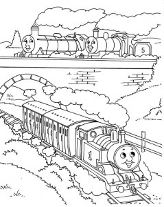 kleurplaat Thomas de trein (2)