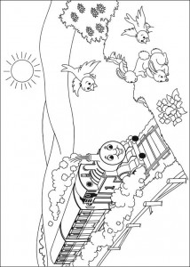 Thomas the train coloring page (20)