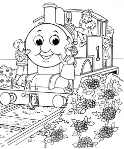 Thomas the train coloring page (21)