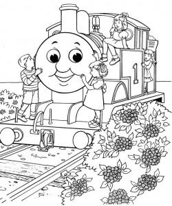 kleurplaat Thomas de trein (21)