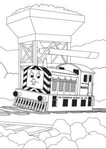 kleurplaat Thomas de trein (22)