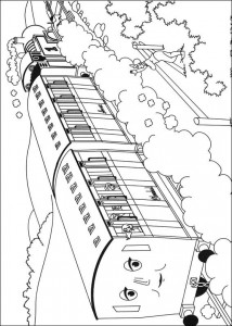 Thomas the train coloring page (23)