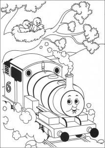 kleurplaat Thomas de trein (24)