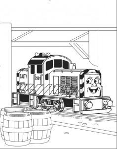 kleurplaat Thomas de trein (25)