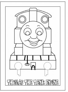 Thomas the train coloring page (26)