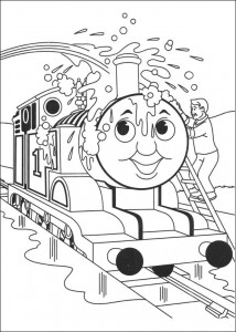 Thomas the train coloring page (27)
