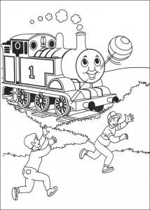 kleurplaat Thomas de trein (28)