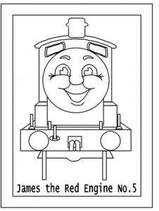 kleurplaat Thomas de trein (29)