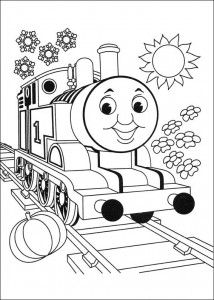 Thomas the train coloring page (3)