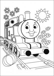 kleurplaat Thomas de trein (3)