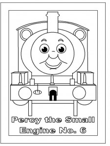 kleurplaat Thomas de trein (30)