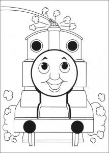 kleurplaat Thomas de trein (31)