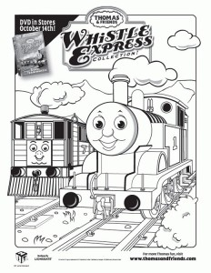 Thomas the train coloring page (33)