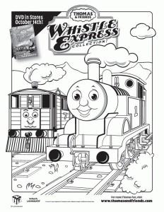 kleurplaat Thomas de trein (33)